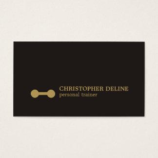 Instrutor pessoal do Dumbbell preto mínimo do ouro Cartão De Visitas