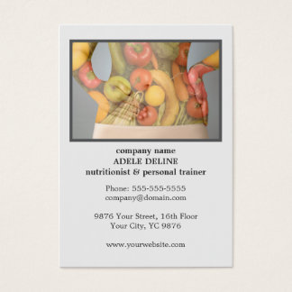 Instrutor pessoal do nutricionista limpo moderno cartão de visitas