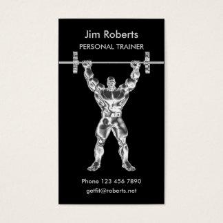 Instrutor pessoal do Weightlifter do cromo Cartão De Visitas