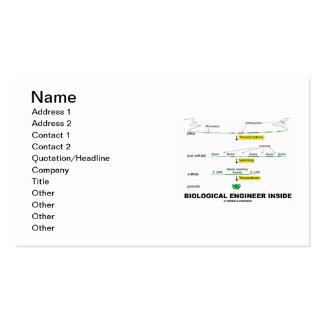 Interior biológico do engenheiro (transcrição) cartão de visita