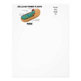 Interior celular dos centrais eléctricas papel timbrado