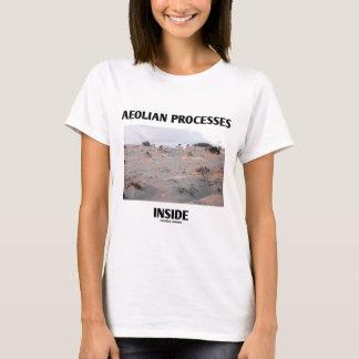 Interior eólio dos processos (erosão rochosa da camiseta