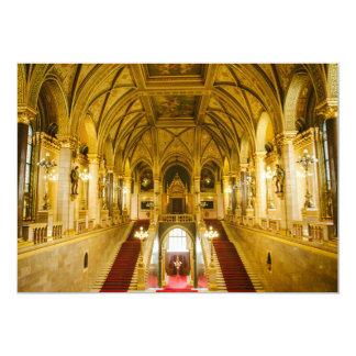 Interior húngaro do parlamento convite 12.7 x 17.78cm