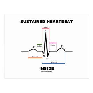 Interior sustentado da pulsação do coração cartão postal