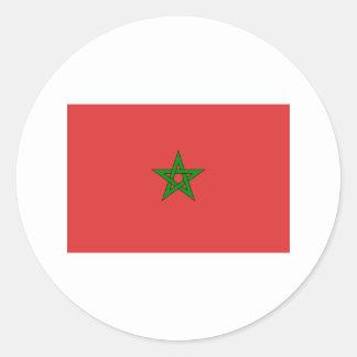 International da BANDEIRA de Marrocos Adesivo