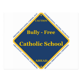 Intimidação - escola católica livre cartão postal