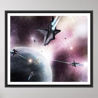 Invasão do espaço pôster