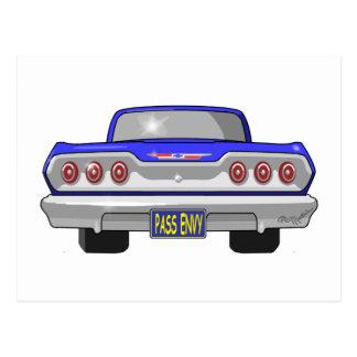 Inveja 1963 da passagem de Chevy Cartão Postal