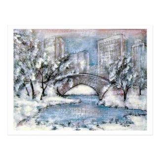 Inverno de New York do Central Park Cartão Postal