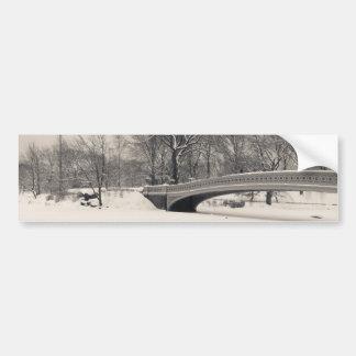 Inverno do Central Park - neve da ponte do arco Adesivo Para Carro