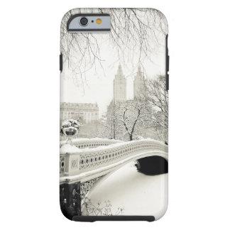Inverno do Central Park - neve na ponte do arco Capa Para iPhone 6 Tough