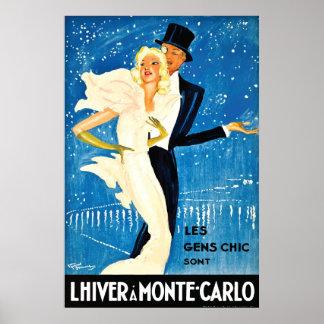 Inverno europeu do vintage no viagem de Monte - de Posters