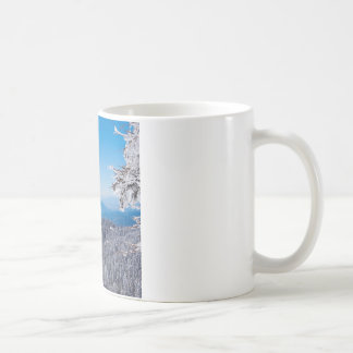 Inverno Moutain Veiw superior da natureza Caneca