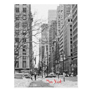 Inverno na frente do cartão da estação de NY Penn