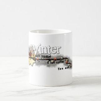 Inverno, você e mim caneca