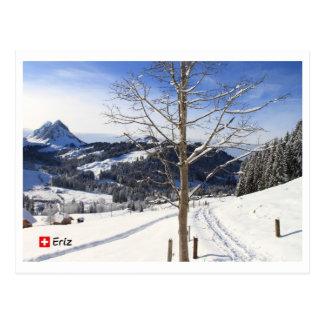 Inverno wonderland - Switzerland Cartão Postal