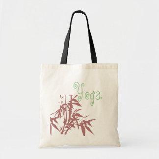 Ioga e sacola do costume do bambu bolsa tote