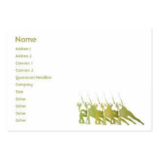 Ioga verde - carnudo cartões de visitas