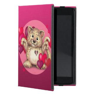 iPad BONITO do AZUL do CAT do AMOR do LEOPARDO Capa iPad Mini