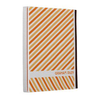 iPad personalizado das listras laranja diagonal co
