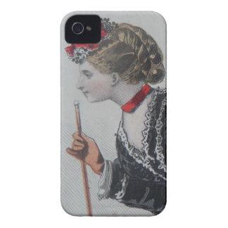 iPhone4 case, 19th century fashion illustration Capinha iPhone 4