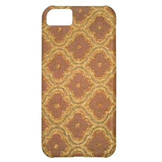 iPhone 5 da case mate do damasco de Brown do ouro Capa Para iPhone 5C