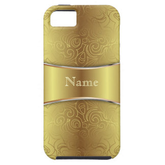 iPhone 5 damascos abstratos florais do caso Capa De iPhone 5 Case-Mate