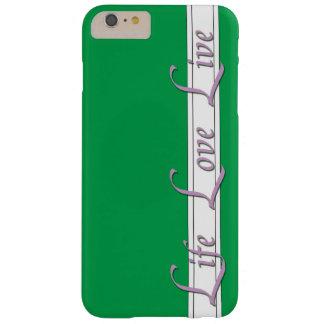 iphone 6/6s mais o estilo de vida do verde do caso capas iPhone 6 plus barely there