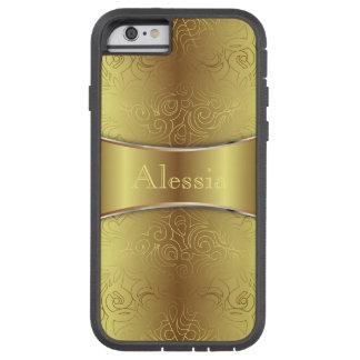 iPhone 6 damascos abstratos florais resistentes do Capara Para iPhone 6 Tough Xtreme