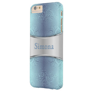 iPhone 6 damascos abstratos mal florais positivos Capa Barely There Para iPhone 6 Plus