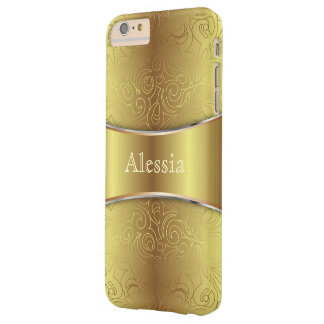 iPhone 6 damascos abstratos mal florais positivos Capas iPhone 6 Plus Barely There