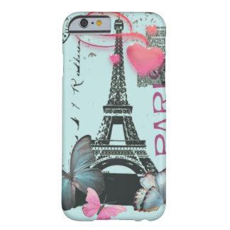 iPhone azul 6 da borboleta de Paris EffielTower do Capa Barely There Para iPhone 6