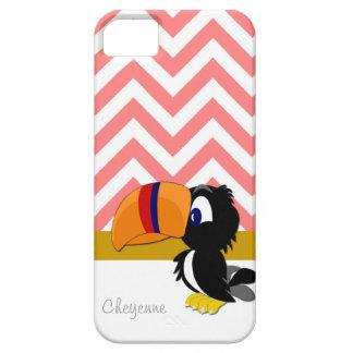 iPhone coral 5 de Toucan Chevron mal lá Capa Para iPhone 5