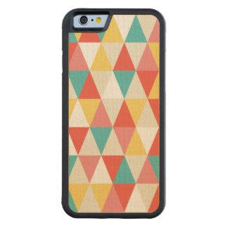 iPhone de madeira geométrico retro festivo 6 Capa De Madeira De Bordo Bumper Para iPhone 6