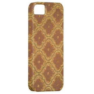 iPhone dourado 5 da case mate do damasco de Brown Capa Barely There Para iPhone 5