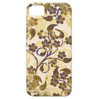 iPhone floral 5 da case mate do ouro de Brown do Capa Barely There Para iPhone 5