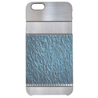 iPhone legal do teste padrão da cerceta da prata Capa Para iPhone 6 Plus Clear