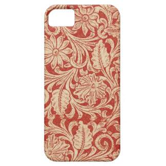 iPhone vermelho floral 5 da case mate do damasco Capa Barely There Para iPhone 5