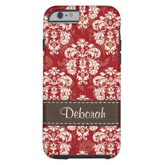 iPhone vermelho marrom 6 do damasco resistente Capa Tough Para iPhone 6