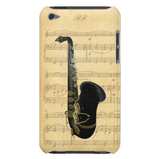 Ipod touch preto 4G da partitura do saxofone do Capa Para iPod Touch