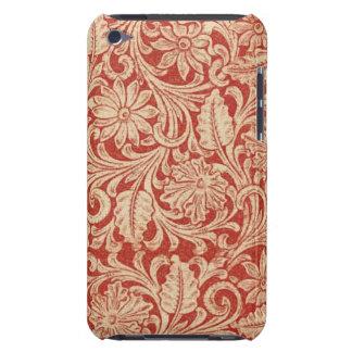 Ipod touch vermelho floral da case mate do damasco capa para iPod touch