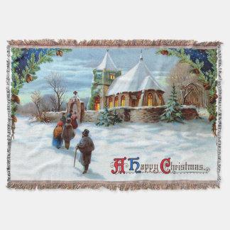 Ir à árvore de Natal verde da igreja Manta