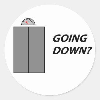 Ir abaixo do botão redondo adesivo