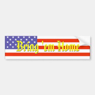 Iraque, traz-lhes a casa, bandeira americana adesivo para carro