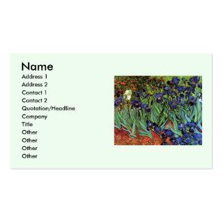 Íris de Van Gogh, belas artes do jardim do vintage Cartão De Visita