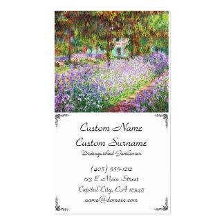 Íris no jardim Claude Monet de Monet Cartão De Visita
