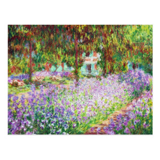 Íris no jardim Claude Monet de Monet Cartão Postal