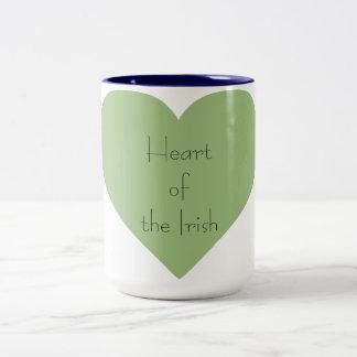 Irish_Heart of_St.Patrick Dia-Diário Caneca De Café Em Dois Tons