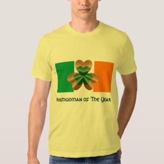 Irishwoman do TShirt do Dia de São Patrício do