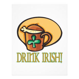 Irlandês da bebida panfleto coloridos